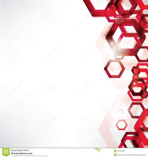 Abstract Background With Geometric Shapes Stock Vector