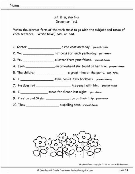 2nd grade grammar worksheets pdf new worksheets for all