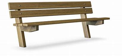 Bench Backrest Avenue Kompan Furniture Outdoor Benches