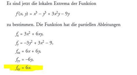 funktion von zwei variablen extremwerte fxyx