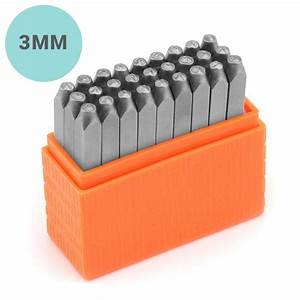 impressart basic lowercase metal letter stamp set 3mm With steel letter stamps