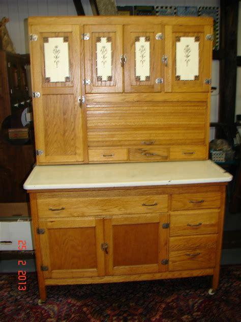 Antique Oak Hooiser Kitchen Cabinet W Siffter