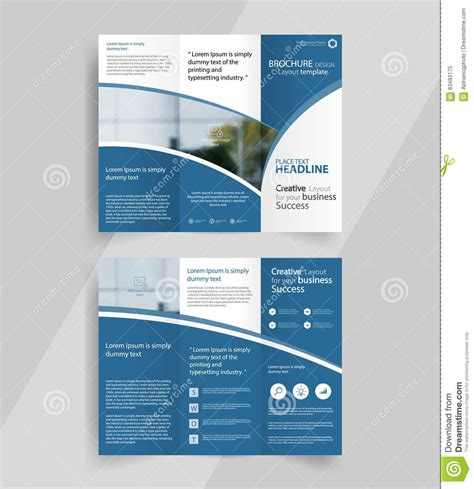 Brochure Template Design Tri Fold Brochure Layout Theveliger