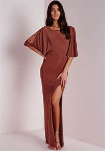 robe longue fluide rouille a manches kimono befashionlike With robe rouille