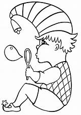 Bubble Coloring sketch template