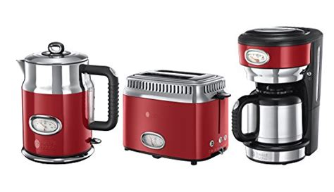 wasserkocher toaster set retro hobbs fr 252 hst 252 ck set 3 tlg kaffeemaschine wasserkocher toaster retro ribbon