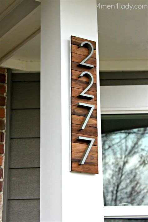 home innovative diy house number signs
