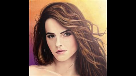 Speed Drawing Painting Emma Watson Youtube