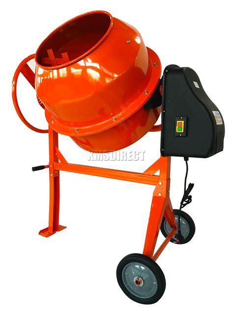 foxhunter 650w electric concrete cement mixer mortar plaster machine 180l drum ebay