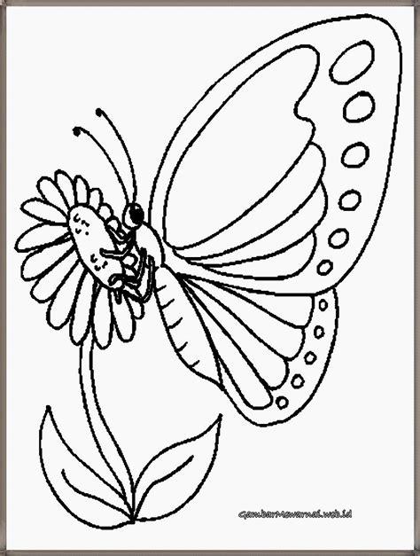 Coloring Kupu Kupu by Mewarnai Gambar Kupu Kupu Gambar Mewarnai Butterfly