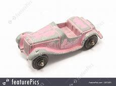 Toys And Souvenirs Vintage Pink Toy Car Stock Photo