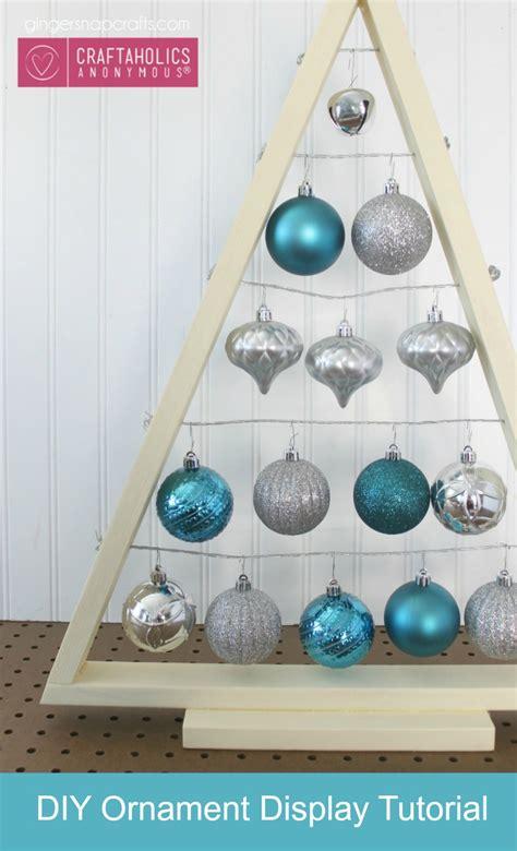 craftaholics anonymous 174 diy ornament display tree tutorial
