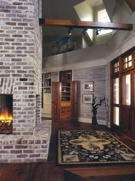 knotty pine walls  white trim design pictures
