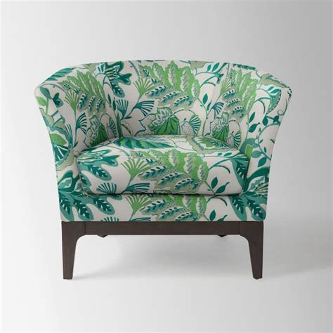 tulip chair cbell floral ivory green