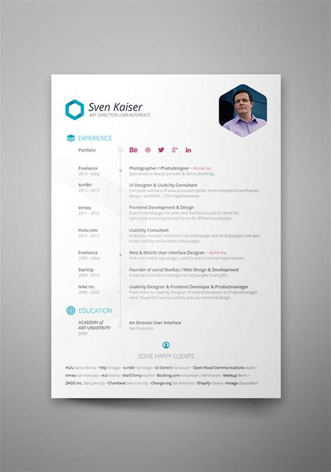 Best Designed Resumes 2015 by Psd Free Resume Template 2015 Stagepfe