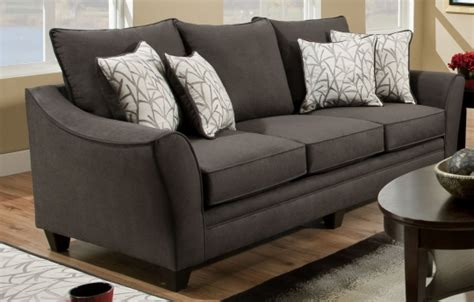 simmons flannel charcoal sofa simmons flannel charcoal sofa furniture table styles