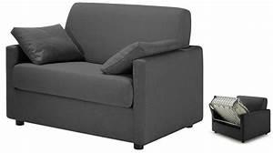 Lit Tissu Gris : fauteuil lit tissu gris anthracite fauteuil convertible pas cher ~ Teatrodelosmanantiales.com Idées de Décoration