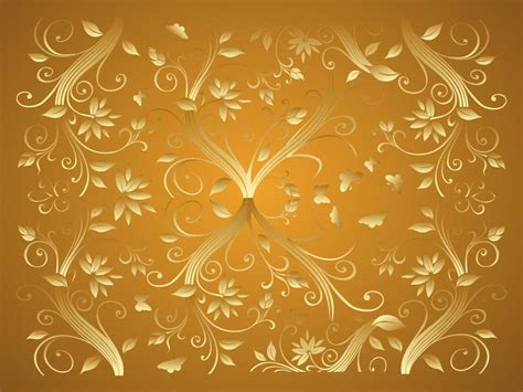 Decorating With Yellow by Gold Flower Wallpaper Wallpapersafari