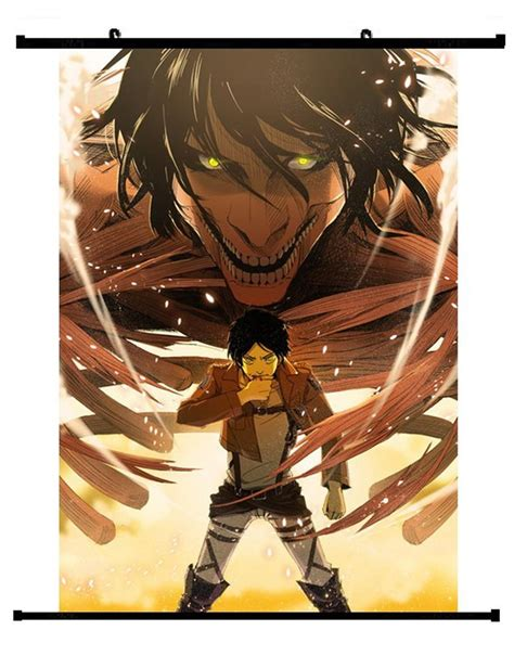 anime attack  titan eren yeager wall scroll  hobby zone
