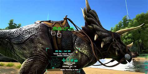 ark survival saddle evolved mounts trike mammoth