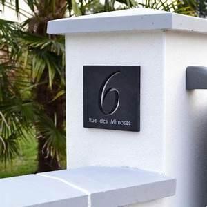 Plaque Numero Maison Design : plaque originale en ardoise avec num ros d coup s et lettres peints ~ Melissatoandfro.com Idées de Décoration