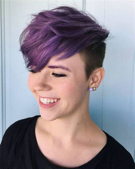 best 25 dyed pixie cut ideas on funky pixie