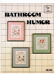 cross stitch bathroom humor pattern booklet cross stitch With bathroom cross stitch patterns free