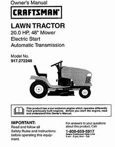 53 Sears Craftsman 20 Hp Riding Mower Tractor Manuals