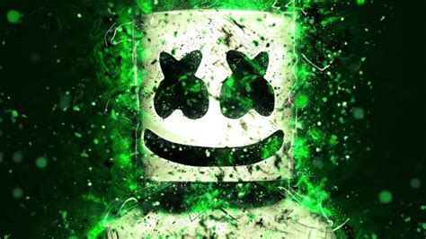 4k Resolution Neon Marshmello Wallpaper 3d by Marshmello Hd Wallpaper