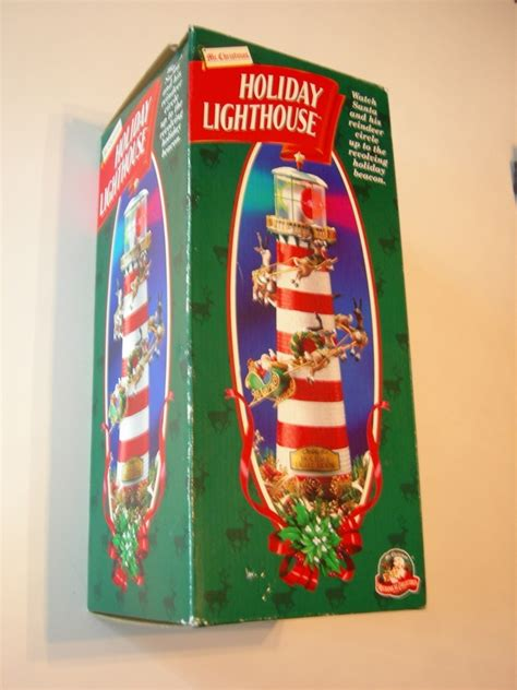 mr christmas holiday lighthouse table or tree topper nib