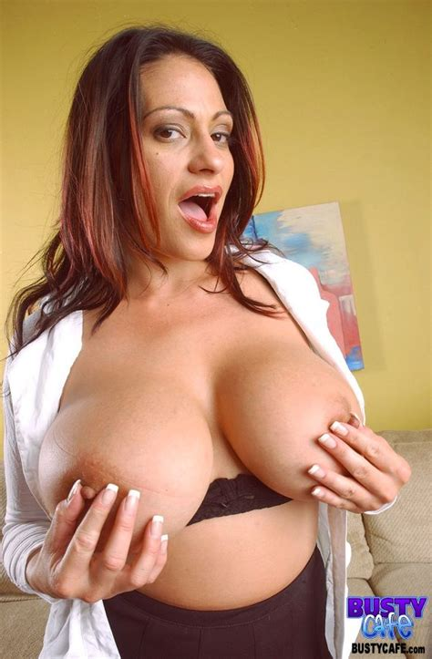 ava lauren at busty cafe huge tits milf babe naked