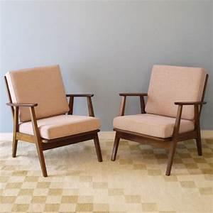Fauteuil Design Scandinave : paire fauteuils vintage scandinave design annee 60 la ~ Melissatoandfro.com Idées de Décoration