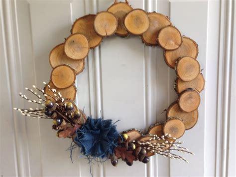 Wood Slice Wreaths  Ea