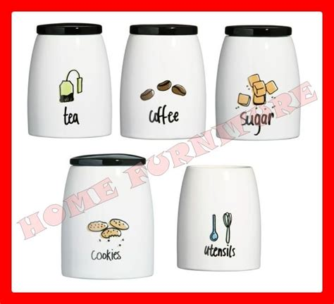 contemporary kitchen canisters modern kitchen canister set pc tea coffee sugar cookies 2469