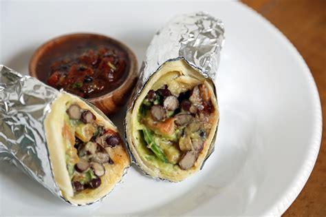 vegetarian burrito easy vegetarian burrito popsugar food