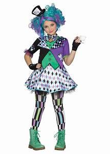 Mad Hatter Girls Costume - Movie Costumes