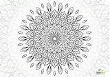 Coloring Flower Complex Pages Mandala Comments Template sketch template