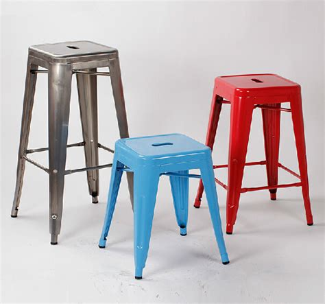 4 pieces lot 18 inch seat height metal bar stool iron