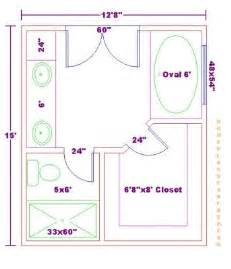 Master Bathroom Floor Plans with Dimensions