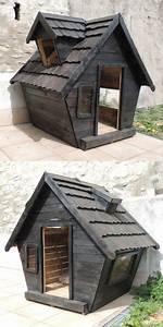 Cabane Pour Chien : cabane en palette pour chien ~ Melissatoandfro.com Idées de Décoration