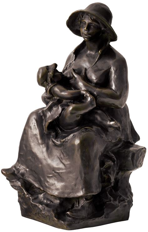 Auguste Renoir Sculpture Mother And Child 1916