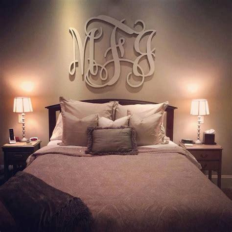 love  monogram   bed      romantic home monogram wall