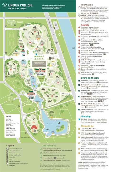 zoo map lincoln park zoo