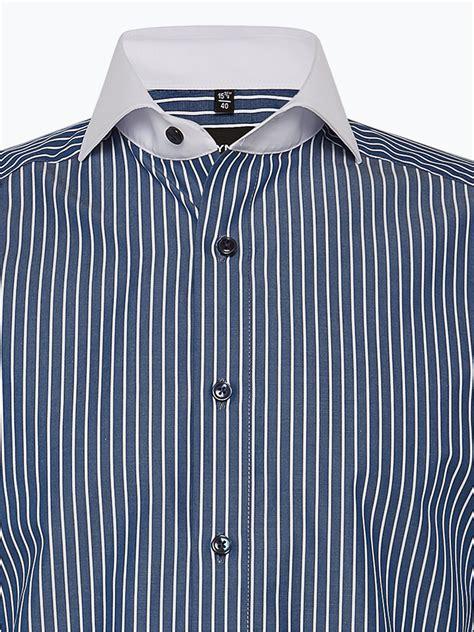 Olymp Modern Fit Herren Hemd marine blau gestreift online