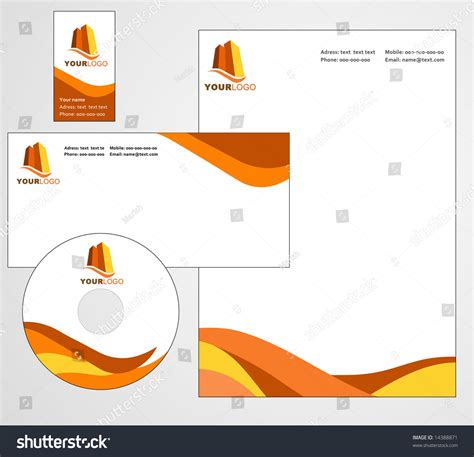 letterhead template design vector file stock vector