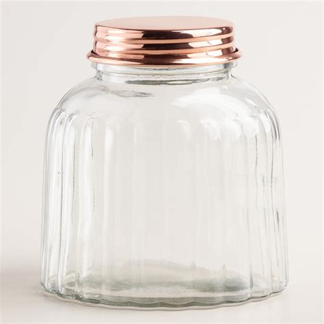 Country Kitchen Glass Jars by With A Vintage Inspired Ribbed Texture And A Warm Copper