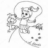 Rope Coloring Jumping Cartoon Kid Jump Fumetto Pagina Della Seils Coloritura Vettore Corda Bambino Jong Beeldverhaal Kleuren Salto Colorare Kleurplaten sketch template