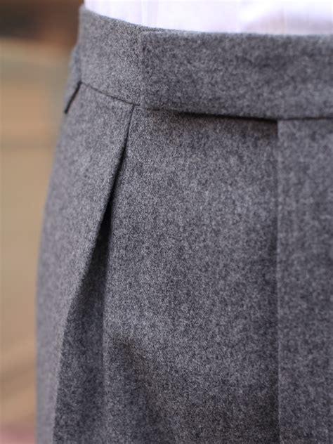 bladen hardy minnis flannel pleated trousers tweed