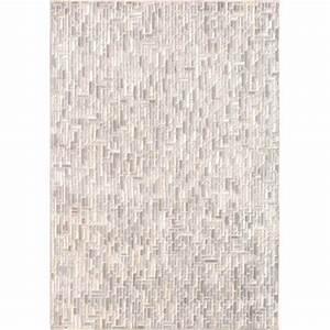 Tapis Gris Blanc : tapis de luxe contemporain blanc et gris pacific par angelo sur mesure ~ Teatrodelosmanantiales.com Idées de Décoration