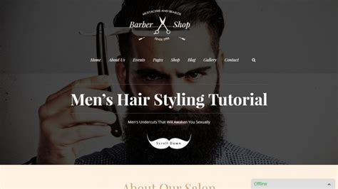 big salon beauty barber site template 25 the most stylish barber shop themes